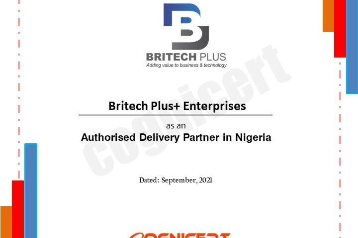 Britech delivery Cert
